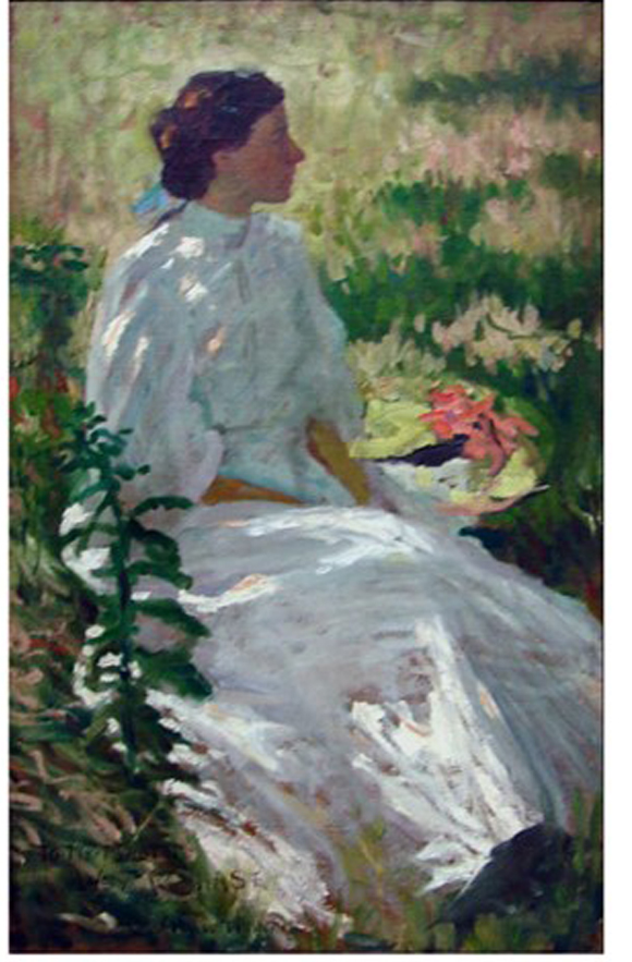 A Study in White by Charles Webster Hawthorne