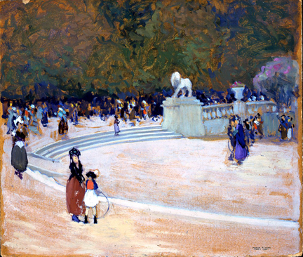 Marvin_Cone_Around the Pool Luxembourg Gardens.jpg