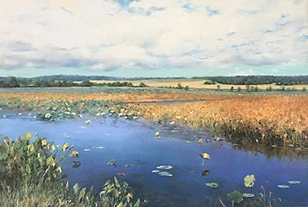 wegman-Lotus-Pond-pastel-27-x-40-2019.png